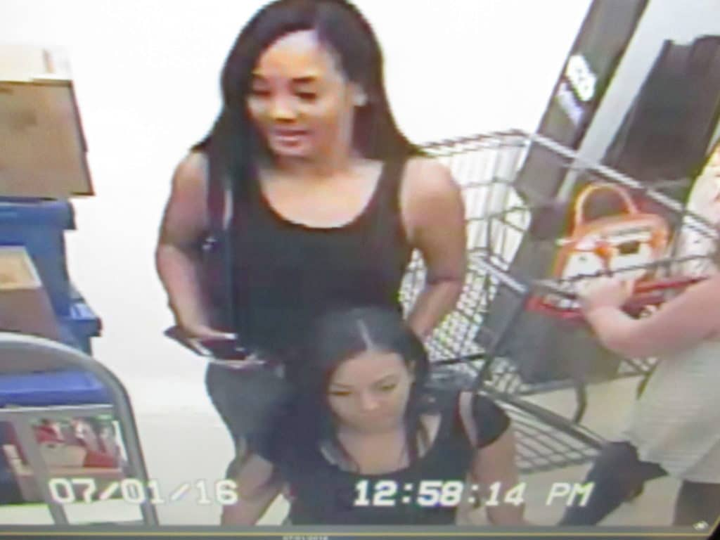 Police are looking to identify these two women in connection with fraudulent credit card charges made earlier this month. (Courtesy Photo)